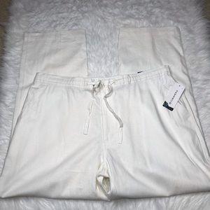 Cubavera Men's Linen Blend Drawstring Pants XL NWT